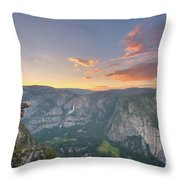 Glacier Point Sunset  Throw Pillow