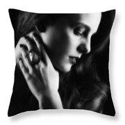 Glamorous Woman Throw Pillow