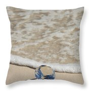 Glass Diamond On The Beach Throw Pillow