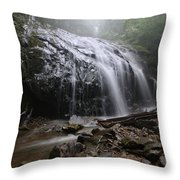 Glen Burney Falls Throw Pillow