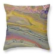 Glide Across The Galaxy Throw Pillow