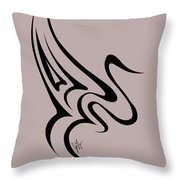 Gliding Swan Throw Pillow