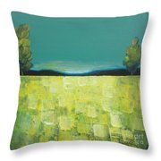 Canola Field N04 Throw Pillow