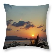Glowing Horizon Throw Pillow