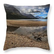 Goat Haunt Tide Pool Reflections Throw Pillow