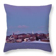 Goat Hill At Sunset In Winter Throw Pillow