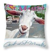 Goats Of St. Maarten- Sofie Throw Pillow