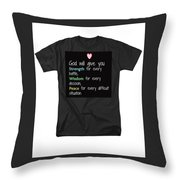 God Will Give You Strength Throw Pillow