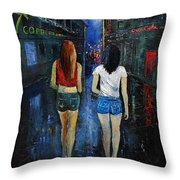 Going Out  Tonight  Throw Pillow