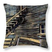 Golden Barn  Throw Pillow