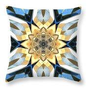 Golden Flower Abstract Throw Pillow