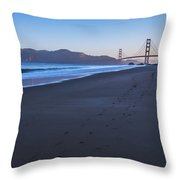 Golden Gate Bridge And Pacific Ocean Early Morning Throw Pillow