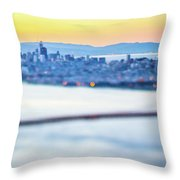Golden Gate Bridge San Francisco California West Coast Sunrise Throw Pillow