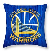 Golden State Warriors Door Throw Pillow