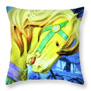 Nyc Golden Steed  Throw Pillow