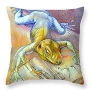 Golem Throw Pillow by Filip Mihail