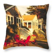 Goose Creek Beach Cottages Throw Pillow