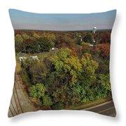 Gordonsville Virginia Tracks Throw Pillow