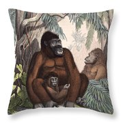 Gorillas Throw Pillow