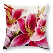 Graceful Lily Series 11 Throw Pillow