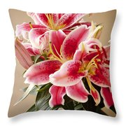 Graceful Lily Series 12 Throw Pillow