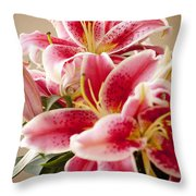 Graceful Lily Series 13 Throw Pillow