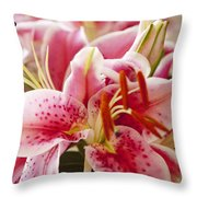 Graceful Lily Series 15 Throw Pillow