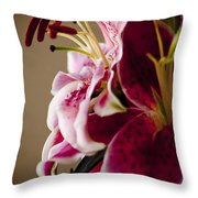 Graceful Lily Series 16 Throw Pillow