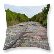 Graffiti Highway, Facing North Throw Pillow