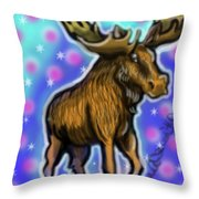 Graffiti Moose Throw Pillow