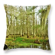 Grand Bayou Swamp  Throw Pillow