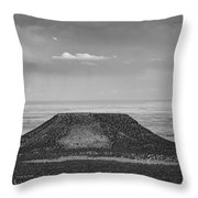 Grand Canyon Black And White  Throw Pillow