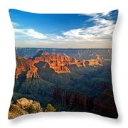 Grand Canyon National Park - Sunset On North Rim Throw Pillow