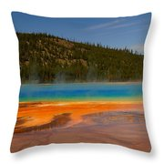 Grand Prismatic Pool IIi Throw Pillow