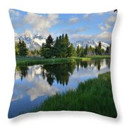 Grand Teton Reflection Throw Pillow