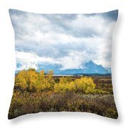Grand Tetons Throw Pillow