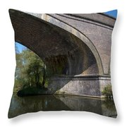 Grand Union Canal Bridge 181 Throw Pillow