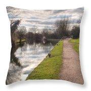 Grand Union Canal Rickmansworth Throw Pillow
