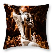 Grandmother Mother And Daughter Throw Pillow