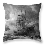 Grappling For The Lost Cable Throw Pillow