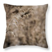 Grass Blade Throw Pillow