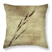Grass Seeds Throw Pillow