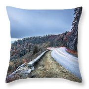Graveyard Fields Overlook In The Smoky Mountains In North Caroli Throw Pillow