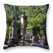 Graveyard In Charleston Throw Pillow