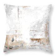Gray Brown Abstract 12m3 Throw Pillow