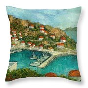 Greek Island Throw Pillow
