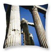 Greek Pillars Throw Pillow