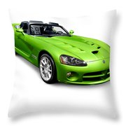 Green 2008 Dodge Viper Srt10 Roadster Throw Pillow