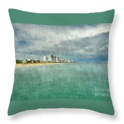 Green And Bluie Throw Pillow