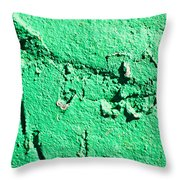 Green Background Throw Pillow
